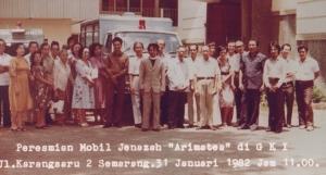 """Peresmian Mobil Jenazah """"Arimatea"""" ( 1982 )"""